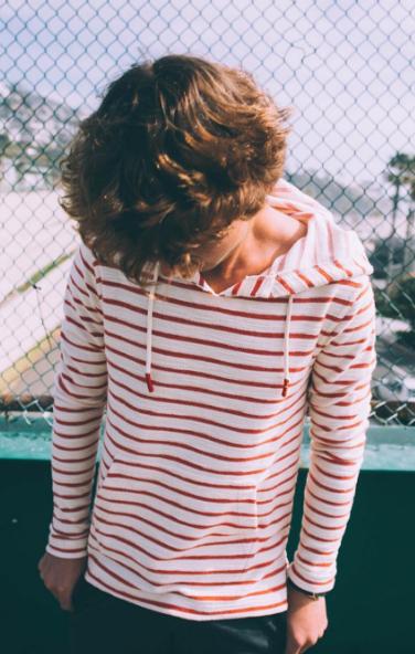Striped Baja Hoodie