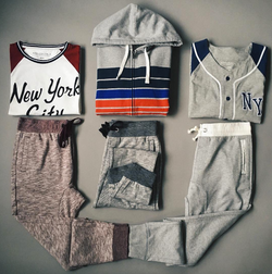 Joggers & Chest Stripe Hoodie