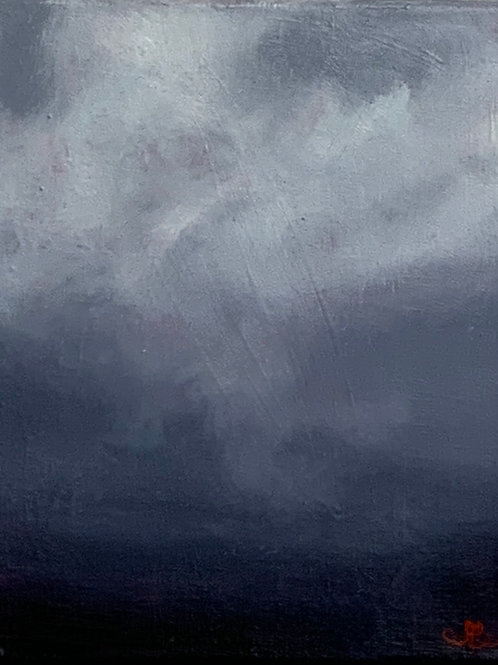 'Brewing Storm' 8 x 10 Oil Painting