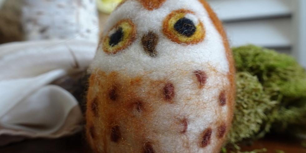 Owl Needle Felting Class