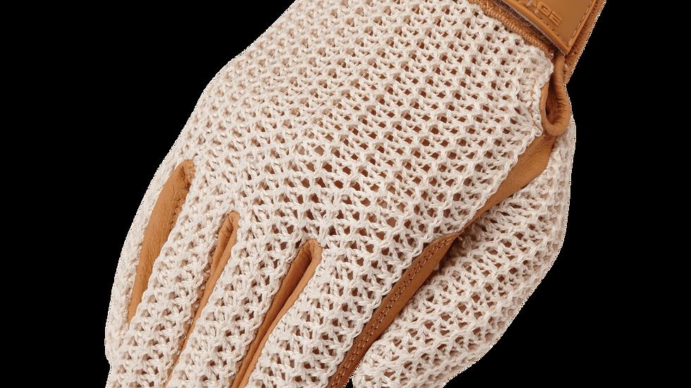 Crochet Riding Glove Tan