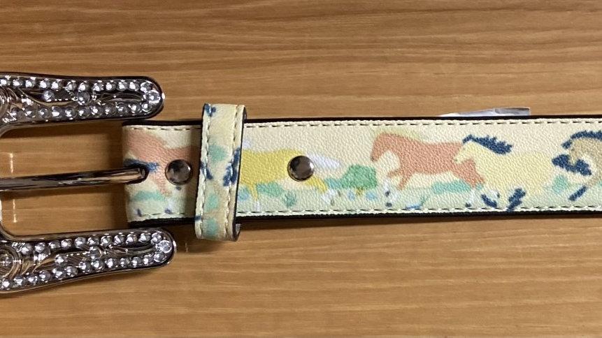 Kids Painted Pony Belt
