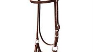 Deluxe Latigo Leather Side Pull, Double Rope