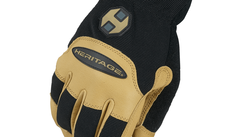 Stable Work Glove Black/Tan