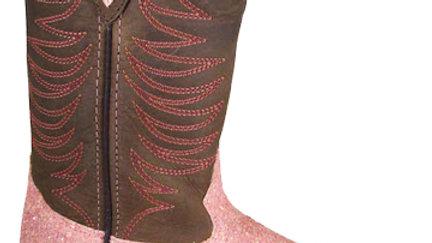 Ariel Pink Sparkle Boots