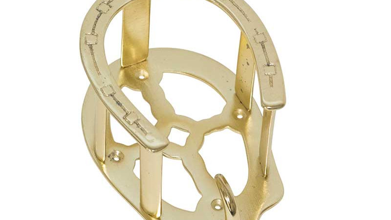 Malleable Iron Brass Plated Bridle Holder