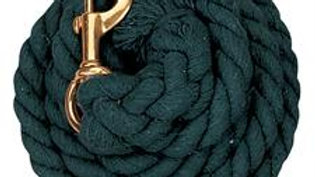 Cotton Lead Rope with Solid Brass 225 Snap