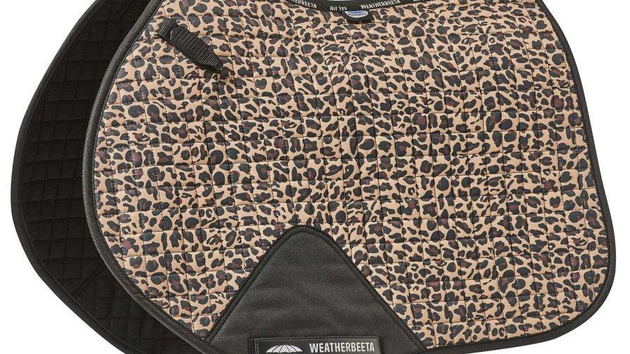 Weatherbeeta Prime Leopard Jump Saddle Pad