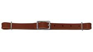 Straight Bridle Leather Curb Strap, Rich Brown
