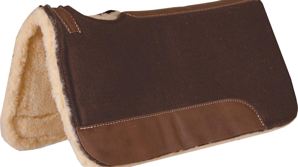 Chocolate Brown Felt Contoured Pad with Fleece Bottom