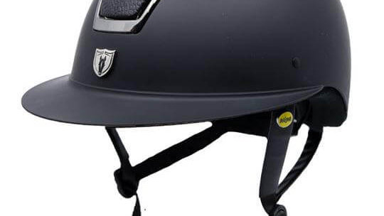 Tipperary Windsor with MIPS Wide Brim Helmet - Matte Black Shell, Smoked Chrome