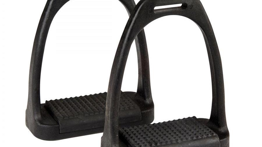 Korsteel Polymer Stirrup Irons Black Tread