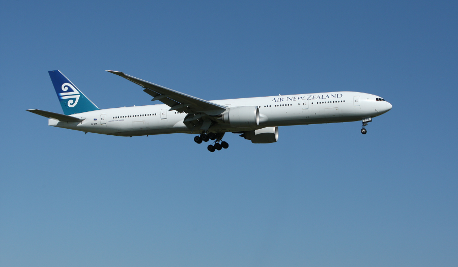 Air New Zealand plane in flight