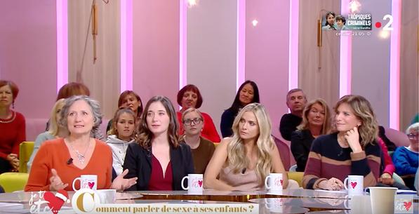 Margot Fried-Filliozat et Isabelle Filliozat en interview sur France 2 dans l'émission Je t'aime etc. Animée par Daphnée Burki