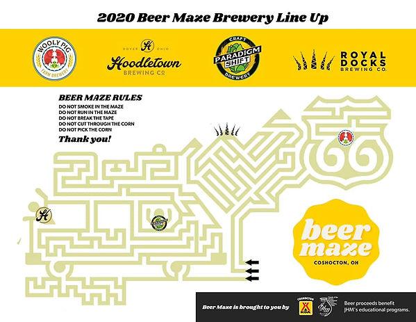Beer Maze Map 2020 Coshocton