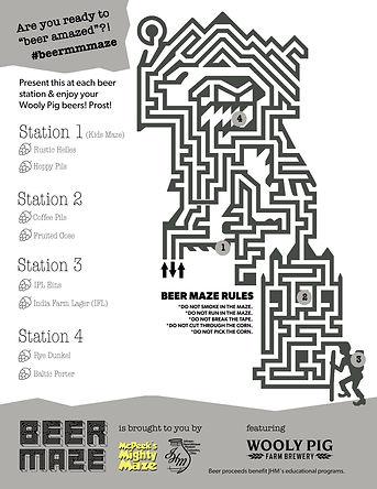 Beer Maze Map 2018 Coshocton