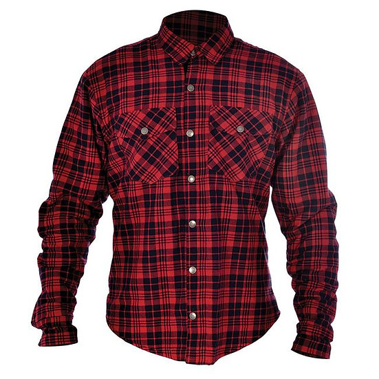 OXFORD Kickback Kevlar Shirt - Check Red / Black