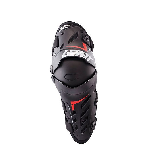 LEATT DUAL AXIS KNEE & SHIN GUARD - BLACK / RED