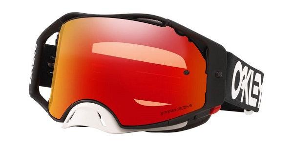Oakley Air Brake MX Goggles Black, Plutonite Lens
