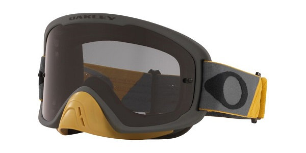 Oakley O Frame 2.0 Pro - Tuff Blocks Gunmetal Gold MX Goggles with Dark Grey Len