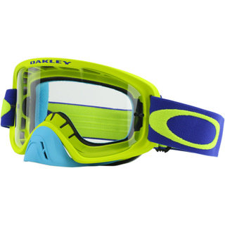 Oakley Oframe MX Goggle Lime/ Blue, Clear Lens