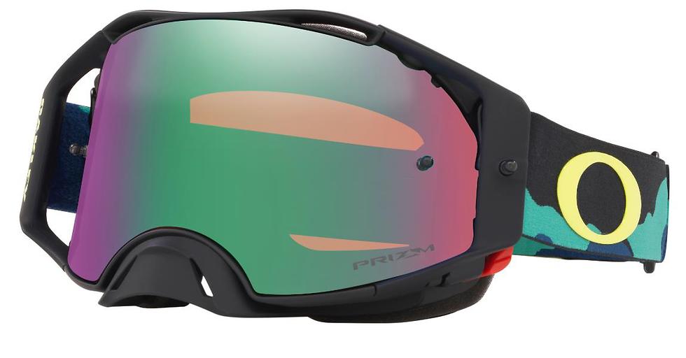 Oakley Airbrake - Eli Tomac SIG Camo Army Blue MX Goggles with Prizm MX Jade Len