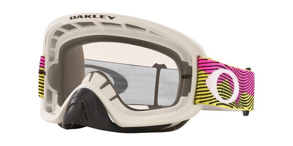 Oakley O Frame 2.0 Pro - Rut City Pink/Green MX Goggles with Clear Lens