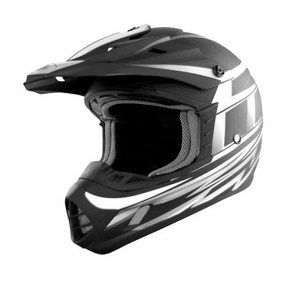 THH TX12 Grid Black/Silver Helmet