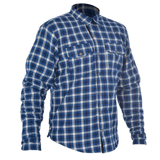 OXFORD Kickback Kevlar Shirt - Check Blue / White