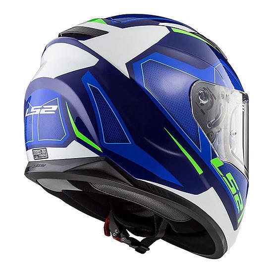 LS2 FF320 STREAM HELMET - AXIS WHITE / BLUE