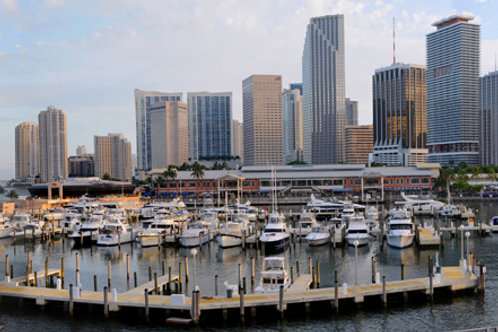 "Bayside Miami Afternoon canvas 62""x17"""
