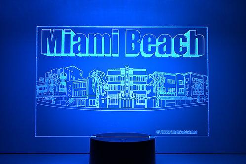 Ocean Drive Miami Beach 3D L.E.D Lamp
