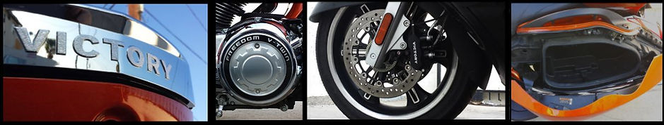 Victory Vision Freedom V-Twin close up photographs, front wheel