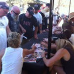 40 Years of Women's MX, Riders signing autographs