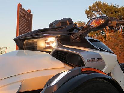 Can Am Spyder F3 Front Headlight closeup