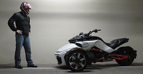 Matt Hansen with Can-Am Spyder F3