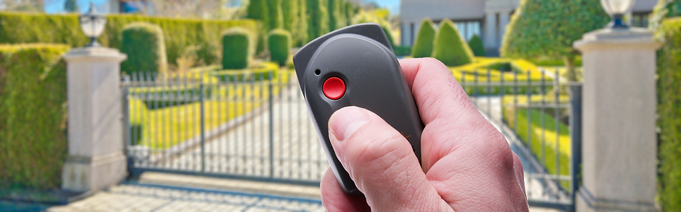 gate opener controlled by a remote