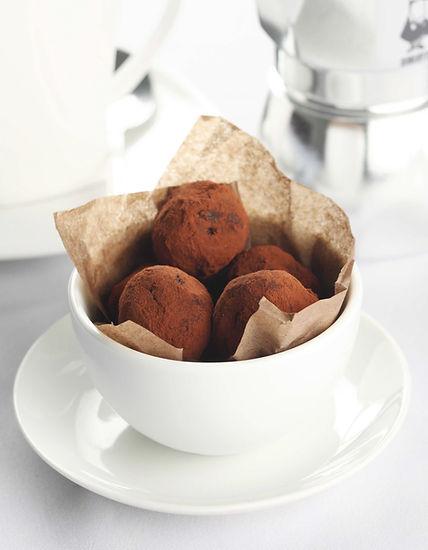 Schokoladen-Trüffel in Cup