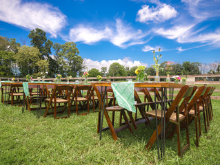 Farm Tables - An Outdoor Reception!