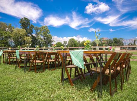 Farm Tables - An Outdoor Reception!