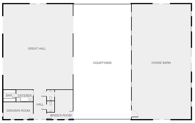 The Barns at Maple Valley Farm Venue Layout