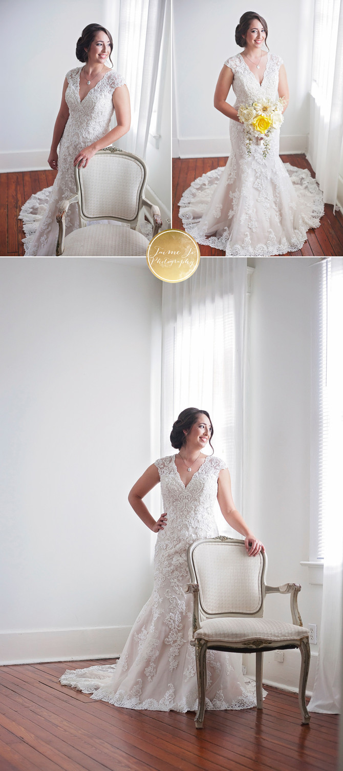 Natural studio bridal session in Savannah, GA