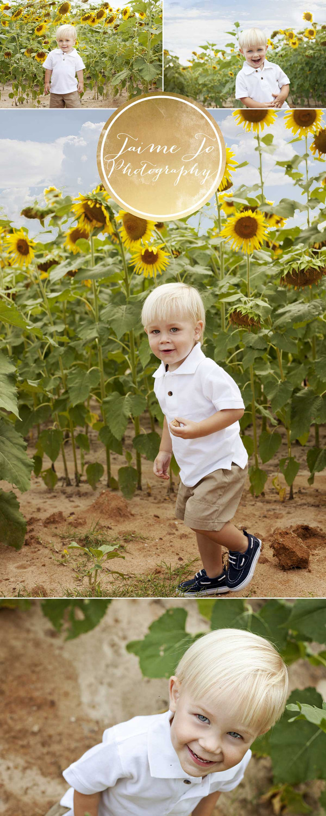 Sunflower fun with Asher