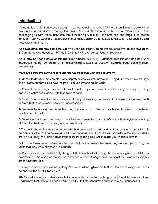 Computools code review by  Junaid_Page_1