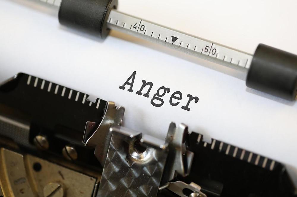 Anger on typewriter