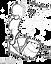 logotipo da série 'timbres e seus gênios' - um personagem tocando repique de anel desenhado em tinta preta sobre fundo quadrado branco