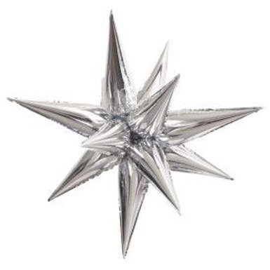 "Balloon Foil 28"" Star Silver"