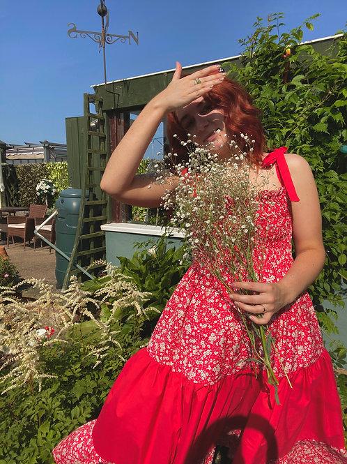 Tilly Sundress in Red