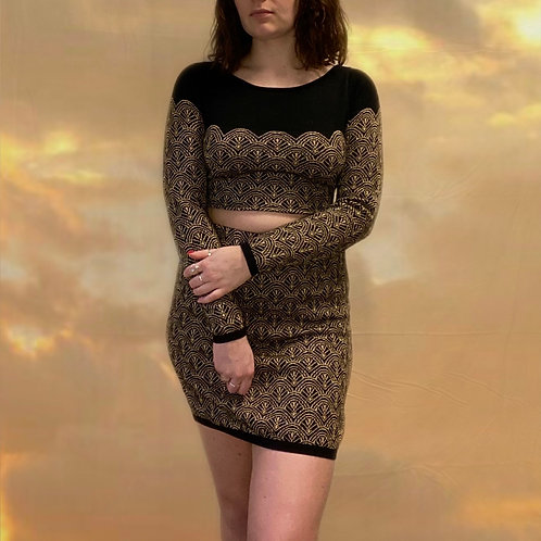 Black and Gold Co-Ord