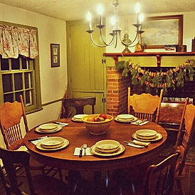 The dining room at Christmas... not much